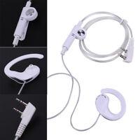 2 PinEarpiece Headset Headphone PTT MIC for BAOFENG KENWOOD Retevis HYT Radio
