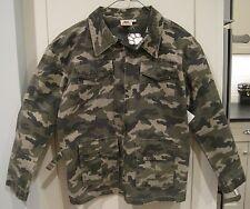 Dogwood Vintage Trail Jacket Olive Camoflage Boys SIZE 8 NWT Zip Up FREE SHIP