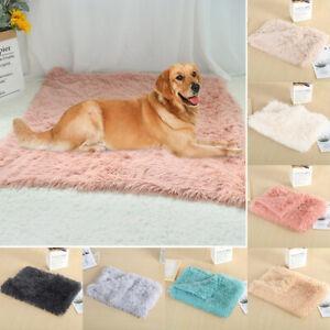 Pet Dog Plush Fluffy Mat Mattress Blanket Cat Calming Bed Nest Cushion 7 Colours