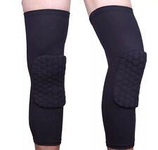 One PAIR Unisex Kids/Mens SIZE MEDIUM Black Honeycomb Basketball Knee Pads