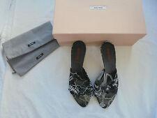 Miu Miu by Prada Sandaletten NP: 390€ Luxus Schuhe High Heels Pumps Gr. 37