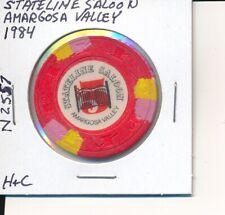 $5 CASINO CHIP-STATELINE SALOON AMARGOSA VALLEY NV 1984 H&C #N2557 ROUGH SPOT