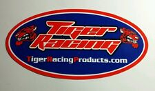 TIGER RACING PRODUCTS  OVAL BLUE RED 3x6 STICKER