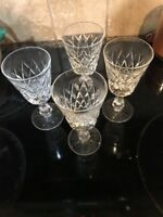 SET OF 4 VTG WATERFORD LISMORE? CRYSTAL WATER GOBLETS 6 7/8""