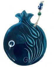 Blue Pomegranate Ceramic Hand Painted Wall Decor