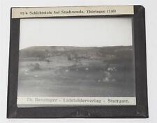 Stadtremda, antikes Lichtbild Glasplatte ca. 1920 #E884
