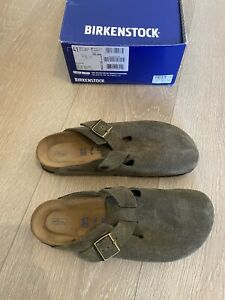 Birkenstock Boston Forest Green Narrow Soft Footbed UK 7.5 (EU 41)