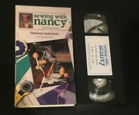 Notions Solutions Sewing With Nancy VHS learn to sew how to video Zieman