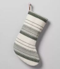 Hearth And Hand Magnolia Christmas Stocking Green Cream Christmas 🎄 Sold out