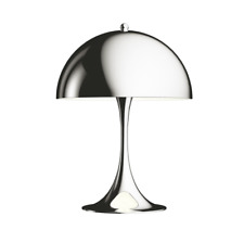 Louis Poulsen Panthella Mini Tischlampe Chrom