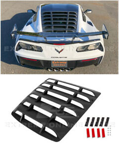 For 14-19 Corvette C7 Coupe ABS Plastic Rear Window Louver Sun Shade Cover