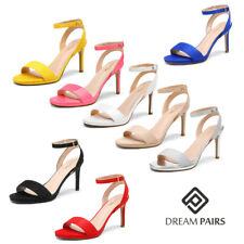 DREAM PAIRS Women High Stiletto Open Toe Ankle Strap Dress Pump Heel Sandals