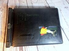 Vintage Leather Scrapbook Photo Album Pirate Treasure Chest My Treasures Black