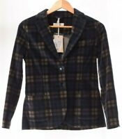 Circolo NWT Blazer Size 42 in Blue/Tan/Black Multi Plaid $550