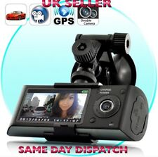 R300 Dual Lens Car Dash Cam 2.7 TFT LCD HD Car Camera RecordGPS MAP UK- Supplier