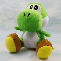 "9pcs Super mario bros running yoshi 7"" soft Stuffed plush toy figure Doll"