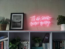New It Is All Good Baby Baby Neon Art Sign Handmade Visual Artwork Light Decor