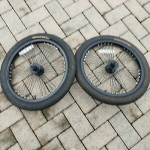 """SET OF 20""""  OLD SCHOOL BMX WHEELS RIMS FRONT AND BACK WITH TIRES GOOD CONDITION"""