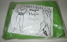 90's Multiples Magic No Sleeve Jumpsuit Os Lime Green New High Fashion 2pc Tube