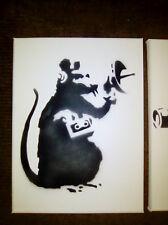 Banksy Canvas Rat Monkey Design Real Spray Paint Brand New