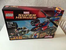 LEGO SUPER HEROES SPIDERMAN ELICOTTERO al salvataggio 76016 BOX SET
