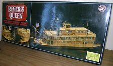 RIVERS QUEEN WOODEN MODEL KIT..SCALE 1:80..BOXED NEW