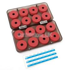 16Pcs Red Foam Sea Fishing Line Spool Sets Carp Tackle with Plastic Box Case