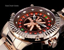 """52MM Invicta Specialty CASINO AUTOMATIC """"Roulette"""" All Rose Gold Bracelet Watch"""