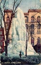 ICE FOUNTAIN, DETROIT, MICH. MI. MICHIGAN. STREET VIEW. WASHINGTON BOULEVARD.
