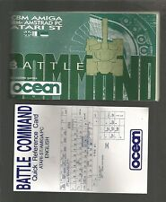 Instructions only  BATTLE COMMAND Amiga & Atari ST & PC - MANUAL ONLY no staples
