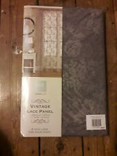 Vintage Lace Panel Pewter New