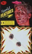 1x Pack of 2 Horrible Make Up Scabs ~ Ideal For Halloween.