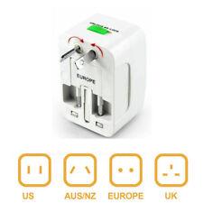 110V-250V Universal World Travel Adapter Converter AC Power Plug US to EU UK AUS