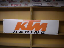KTM Racing pvc banner for Workshop or Garage use, RC390, 450SX, Moto3, SXF etc
