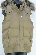 Cotton Patternless Gilet Outdoor Coats & Jackets for Women