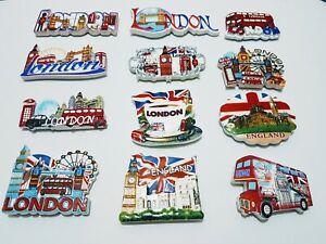 NEW I LOVE LONDON ENGLAND BRITISH UK FRIDGE MAGNETS SOUVENIR 3D CERAMIC GIFT SET