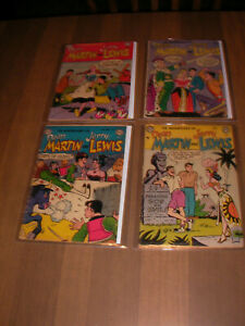 1951 Dean Martin and Jerry Lewis # 4 , 10 , 12 , 14  DC Comics  Golden  Age
