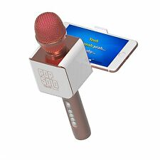 PopSolo Bluetooth Karaoke Microphone and Speaker With Retractable Smartphone