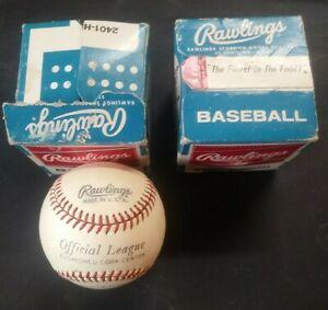 Rare Vintage 60's Rawlings Official League Cork Center Horsehide Cover Baseballs