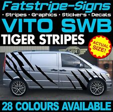 MERCEDES VITO SWB COMPACT TIGER STRIPES GRAPHICS STICKERS CAMPER DAY RACE VAN