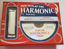 David Harp's How To Play The Harmonica Book & Kit Harmonica, Music Cd New in Box