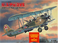 U-2/PO-2VS, WWII SOVIET NIGHT LIGHT BOMBER, WWII 1/48 scale model ICM 48252
