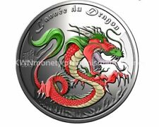 2012 Lannee Du Proof Dragon 1/2 Ounce .999 silver coin ( RARE Only 555 Minted)