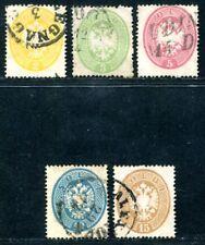 ÖSTERREICH L+V 1863 14-18 gestempelt SATZ 400€(S2255