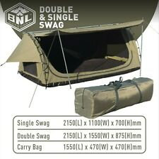 KING SINGLE DOME SWAG - FREE STANDING - 2150(L) x 1100(W) x 700(H)