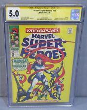 MARVEL SUPER-HEROES #15 (Stan Lee Signed) CGC 5.0 VG/FN 1968 Medusa, Inhumans