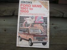 USED VINTAGE CHILTON'S FORD VANS 1961-1986 REPAIR AND TUNE-UP GUIDE