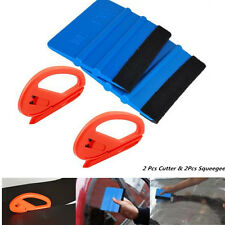 Universal AUTO 4 pcs Safety Vinyl Cutter Felt Edge Squeegee Car Wrapping Tool