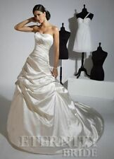 Satin A-line Strapless Wedding Dresses
