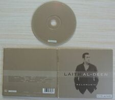RARE CD ALBUM DIGIPACK LAITH AL DEEN MELOMANIE 2002 16 TITRES MADE IN GERMANY